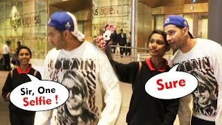 Varun Dhawan Sweet Gesture Towards A Fan Girl At Airport Will Melt Your Heart