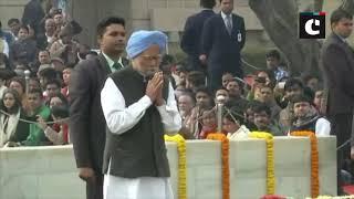 Rahul Gandhi, Manmohan Singh pay homage to Mahatma Gandhi on his death anniversary
