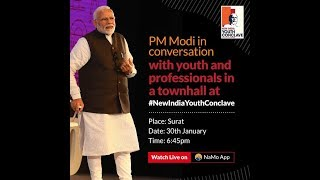 PM Shri Narendra Modi addresses New India Youth Conclave 2019 in Surat, Gujarat
