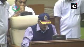 Ailing Goa CM Parrikar addresses the budget session in State Assembly