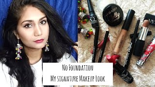 No Foundation Makeup Routine | My Signature Makeup Look | Nidhi Katiyar