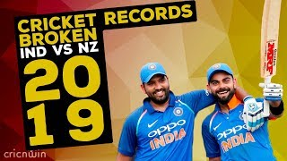 IND VS NZ ODI Series 2019 | Cricket Records Broken | Kohli Rohit Make History