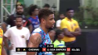 3BL Season 1 Round 6(Mumbai) - Full Game - Day 1 - Chennai Icons vs Goa Snipers