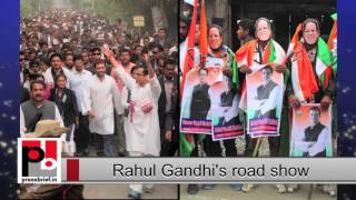 Rahul Gandhi leads congress road show in Assam