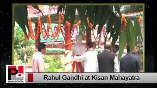 Rahul Gandhi- Mahakisan Yatra in Deoria to Delhi