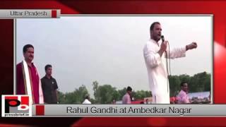 Rahul Gandhi at 'Khat Sabha' in Ambedkar Nagar (UP)