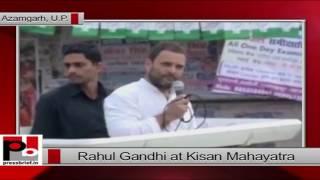 Rahul Gandhi at  Kisan Mahayatra in Azamgarh, UP.