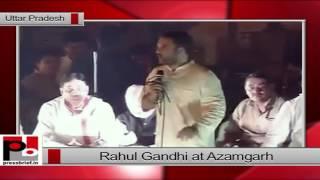 Rahul Gandhi at Azamgarh, U.P. during 'Kisan Mahayatra'.