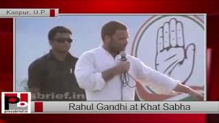 Rahul Gandhi's at Khat Sabha in Kanpur Dehat (UP)
