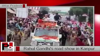 Rahul Gandhi's holds road show in Kanpur (UP)
