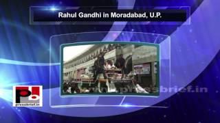 Rahul Gandhi- Kisan Mahayatra in Moradabad, Uttar Pradesh