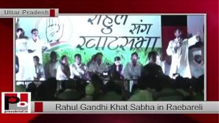 Rahul Gandhi at 'Khat Sabha' in Raebareli, Uttar Pradesh