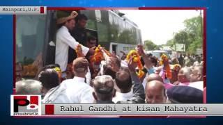 Rahul Gandhi- Kisan Mahayatra in Mainpuri, Uttar Pradesh