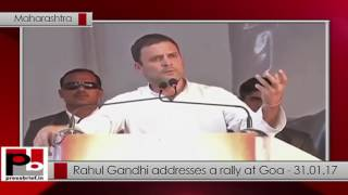 Rahul Gandhi addresses a rally at Goa - 31.01.17