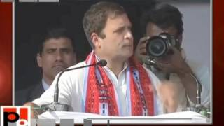 Rahul Gandhi addresses Public Rally in Imphal East, Manipur, 28-02-2017