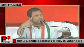 Rahul Gandhi addresses Public Rally in Sonbhadra, Uttar Pradesh, 05-03-2017