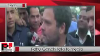 Rahul Gandhi talks to media Chandigarh (Punjab) 16-03-2017
