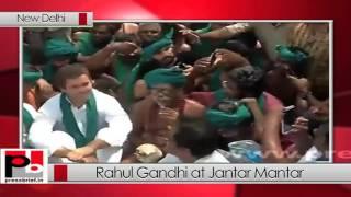 Rahul Gandhi meets Tamil Nadu farmers at Jantar Mantar (31-03-2017)