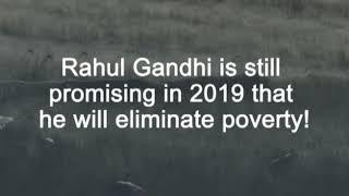 Indira Gandhi in 1971- Garibi Hatao - Rahul Gandhi in 2019- Garibi Hatao