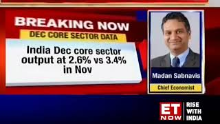 Eight core sector output growth slows down to 2.6% in December 2018