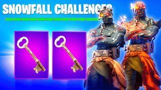 PRISONER SKIN - STAGE 3 KEY HUNT! NEW FREE SNOWFALL SKIN - STAGE 4 KEY HUNT and STAGE 2 IN Fortnite
