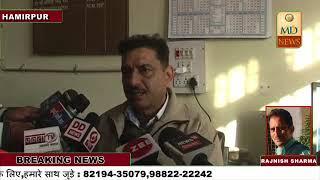 एक लाख रुपए रिश्वत केस के आरोपी हमीरपुर कोर्ट  में पेश,तीनों आरोपियों को एक दिन के पुलिस रिमांड