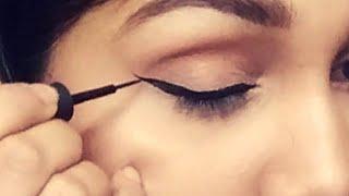 Wing Eyeliner लगाने का आसान तरीका | Use these Tricks to apply winged eyeliner perfectly for beginner