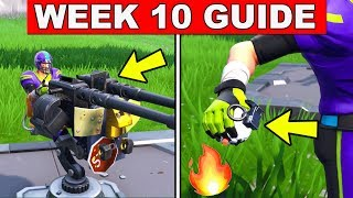 Fortnite ALL Season 7 Week 10 Challenges Guide! Fortnite Battle Royale - Explorer Outposts, Traps