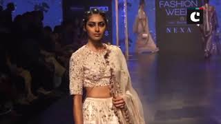 Mouni Roy makes ramp debut for designer Payal Singhal at Lakme Fashion Week 2019