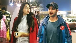 Dilbar Girl Nora Fatehi And Varun Dhawan Spotted At Airport