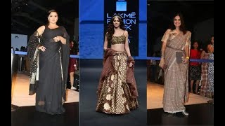 Kriti Sanon's sister Nupur Sanon  Vidya Balan, Mouni Roy Ramp Walk At Lakme Fashion Week