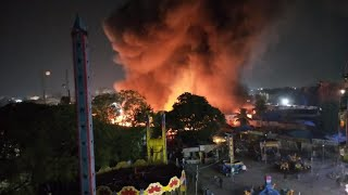 Massive Fire Brakes Out at Nampally Exibition | Breaking News | Half of The Exibition effected - DT