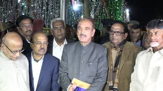 Ghulam Nabi Azad Addresses media after meeting with EC