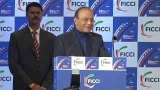 Finance Minister Arun Jaitley addresses the 91st AGM of FICCI