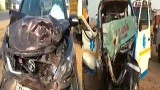Ambulance Aur Car Ka Khaufnak Sadak Hadsa | Shamshabad Road | @ SACH NEWS |