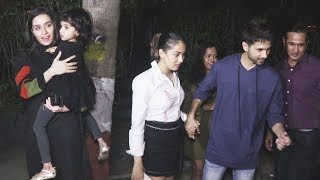 Shahid Kapoor Mira Rajput Shraddha Kapoor Spotted At DINNER At SOHO House