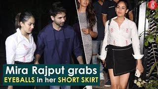 Mira Rajput GRABS Eyeballs In Her Short Skirt After Dinner Date With Shahid Kapoor