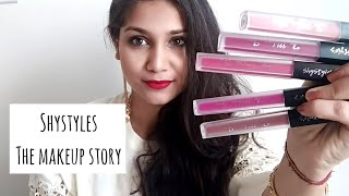 Shystyles The Makeup Story Lipsticks | Review & Swatches | Nidhi Katiyar