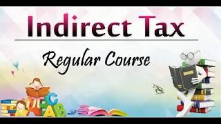 CA Final Nov 18 IDT GST Ch 8 Input Tax credit  Part 1 By Abhinav Jha