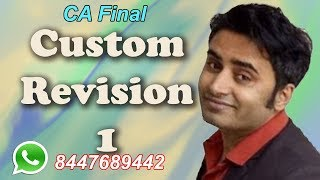 CA Final IDT Custom Fast Track Part 1 Nov 2018
