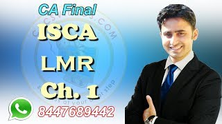 CA Final ISCA LMR Chapter 1