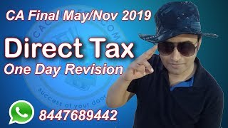 CA Final 2019 DT ONE DAY REVISION LMR Part 1 ch1 Basic and Capital Gain