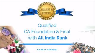 Video Profile of CA Raj K Agrawal