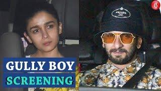 GULLY BOY Screening | Ranveer Singh  Alia Bhatt Zoya Akhtar