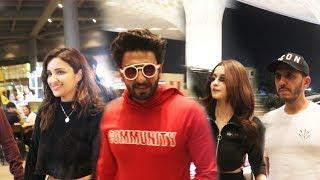 Ranveer Singh Alia Bhatt Parineeti Chopra Ritesh Sidhwani Spotted At Airport