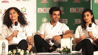 Rajkummar Rao & Patralekha At Ariel Share The Load Event | Press Conference