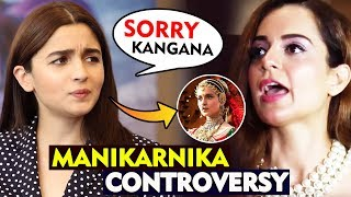 Alia Bhatt Says She Will Apologise To Kangana Ranaut Over Manikarnika Controversy