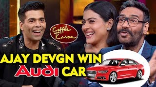 Ajay Devgn Wins An Audi A5 On Koffee With Karan 6?