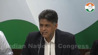 AICC Press Briefing By Manish Tewari at Congress HQ on Rafale Deal Scam