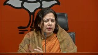 Press Conference by Smt. Meenakshi Lekhi at BJP Head Office, New Delhi